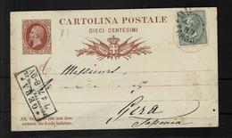 Italie Entier Postale N° 4 Obli - - Stamped Stationery