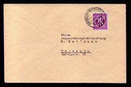 AM-POST Brief ANSBACH (MITTELFR) - Bayreuth - 5.10.45 - Mi.7 - Zona Anglo-Americana