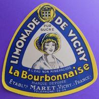 ÉTIQUETTE ANCIENNE ORIGINALE LIMONADE DE VICHY LA BOURBONNAISE MARET - Other
