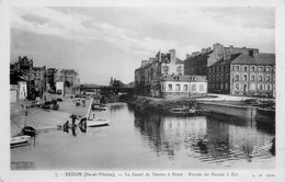 Photo Cpa 35 REDON. Le Canal De Nantes à Brest Entrée Du Bassin - Redon