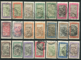 22389 MADAGASCAR N°94/110°/* Transport En Filanzane. Dentelés 13 1/2 X 14  1908-17  B/TB - Used Stamps