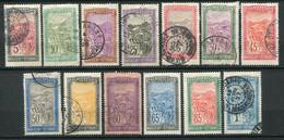 22393 MADAGASCAR N°131/43°/* Transport En Filanzane  1922-26  B/TB - Used Stamps