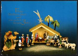F2972 - TOP Glückwunschkarte Weihnachten - Krippe Weihnachtskrippe Erzgebirgische Volkskunst Seiffen - Unclassified