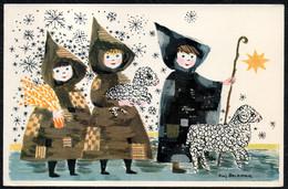 F2980 - Kai Beckmann Glückwunschkarte Weihnachten - Krippe Weihnachtskrippe - Unclassified