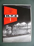 Plaquette MTE Locomotives SNCF 1960 Usine Du Creusot BB 12000 BB 69000 BB 67000 Jeumont SW - Publicités