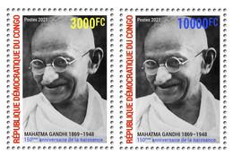 DEMOCRATIC REPUBLIC CONGO 2021 - SET 2v - JOINT ISSUE MAHATMA GANDHI 150 TH BIRTH ANNIVERSARY - RARE MNH - Mahatma Gandhi