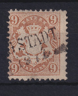 Bayern 1873 9 Kreuzer Mi.-Nr. 28 Y Gestempelt - Bavaria