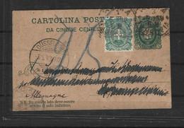 Italie Entier Postale N° 14 Obli - - Stamped Stationery
