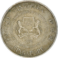 Monnaie, Singapour, 10 Cents, 1991, British Royal Mint, TB+, Copper-nickel - Singapore