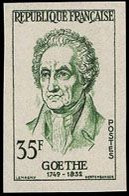 FRANCE (1957) Goethe. Trial Color Proof. Scott No 863, Yvert No 1138. - Prove