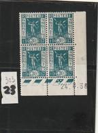 ///  FRANCE  //// Coin Daté N° 323 ** Exposition Côte   23€ - 1930-1939