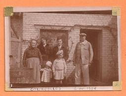 PHOTO ORIGINALE COURCELLES 2 AVRIL 1934 - PHOTO DE FAMILLE - Lieux