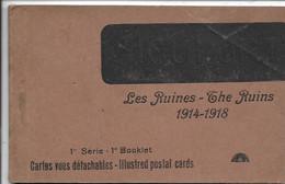 Carnet - Nieuport Serie 1- Les Ruines 1914-1918 - Kompleet (10 Kaarten) - Nieuwpoort
