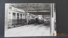 Photo De Format CP - Saint-Etienne - Tramway - Dépôt Bellevue Avant 1959 - Plaatsen