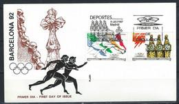 LZ-/-076- LETTRE FDC PRE (1987) - J.O. BARCELONE 92, VOIR IMAGES POUR DETAILS, IMAGE DU VERSO SUR DEMANDE, - Verano 1992: Barcelona