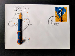 PORTUGAL FDC COVER - 2007 The 50th Anniversary Of The Signature Of The Treaty Of Rome (STB10-C7) - FDC