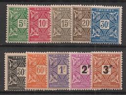 Dahomey - 1914-27 - Taxe TT N°Yv. 9 à 18 - Série Complète - Neuf Luxe ** / MNH / Postfrisch - Neufs