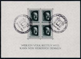 Deutsches Reich, 1937, 646 Block 7, Gestempelt Oo, 48. Geburtstag Von Adolf Hitler. - Blocks & Sheetlets