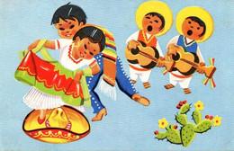 Lot De 7 Cartes : Danses Diverses , Mexico , Dessins Non Signés - Mexico