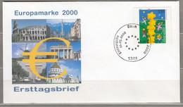 Europa Cept 2000 Germany FDC Bonn Cancel #30648 - 2000