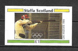 Staffa 1984 Olympic Games LOS ANGELES - Sharpshooting IMPERFORATE MS MNH (DMS08) - Estate 1984: Los Angeles