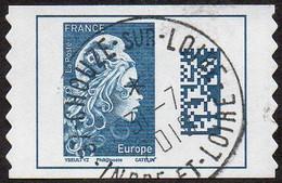 Oblitération Cachet à Date Sur Autoadhésif De France N° 1603 - Marianne L'Engagé. Datamatrix Europe PRO - Autoadesivi
