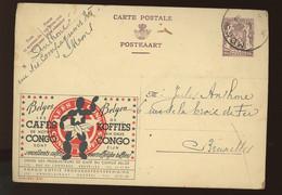 881   Circulée  1950  Les Cafés De NOTRE CONGO - Publibels