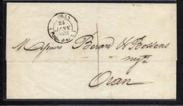 Bureau D'Algérie RARE Taxe 1 Décime Lettre Locale Avec Grand Cachet De ORAN POSS. D'AFR - 1849-1876: Periodo Classico