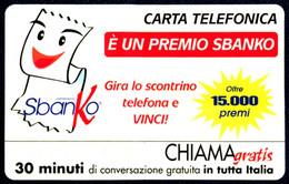 G CHI 600 SCHEDA TELEFONICA CHIAMAGRATIS MINT MASTER SBANKO - Private-Omaggi
