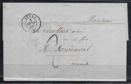TAXE 2 Au Tampon SEDAN (Ardennes) 5 Janvier 1849 - 1849-1876: Klassieke Periode