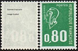 France Marianne De Béquet N° 1891 C ** Variété Le 80c Vert Gomme Tropicale - 1971-76 Marianne Of Béquet