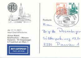 BERLIN  12 -  1978  ,  20 + 25  UV  -  Anton Walch   -  PP70 / 3 - Privatpostkarten - Gebraucht