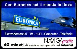 G NAV 55 SCHEDA TELEFONICA MINT NAVIGAGRATIS EURONICS - Private-Omaggi