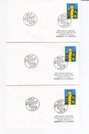Europa Cept 2000 Belgium 11 X FDC Different Cancels #30657 - 2000