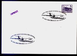 Avion ATR 42 - Premier Vol Cluj Napoca - VIENA 2000   Cachet Special Roumanie / Romania - Covers & Documents