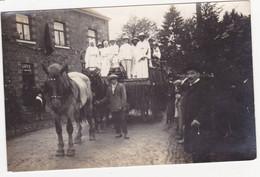 48626  -  Moulin Du Ruy  1930 -  Attelage Devant Café Mathieu  -  Carte Photo - Stoumont