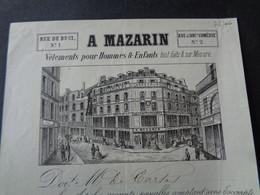 FACTURETTE - Dpt DE LA SEINE - PARIS 6ème - 1871 - VETEMENTS HOMMES & ENFANTS : A. MAZARIN , RUE DE BUCI - Unclassified
