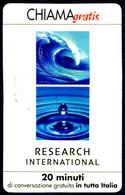 G CHI 539 SCHEDA TELEFONICA CHIAMAGRATIS MINT MASTER RESEARCH INTERNATIONAL 11/2003 - Private-Omaggi
