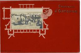 Carte Montage Souvenir D'Ostende Edition Th.v.d Heuvel Bruxelles - Oostende