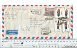 Spain Tenerife Garachico Registered To Lindavista Mexico Oct 6 1969....................(Box 2) - 1961-70 Briefe U. Dokumente