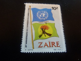 Admission Du Zaire à L'ONU - Val 10 Z - Multicolore - Oblitéré - Année 1985 - - 1980-89: Used