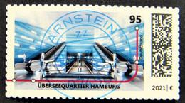 """Bund/BRD März 2021 1 Skl Sondermarke """"U-Bahnstation Hamburg"""" MiNr 3607, Aus Folienblatt 106, Gestempelt - Used Stamps"""