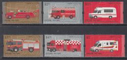 2018 Hong Kong Fire Services Anniversary Fire Trucks Ambulances Complete Set Of 6  MNH @ BELOW FACE VALUE - Ungebraucht