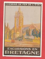 C.P.M.( 29 ) « SAINT-THEGONNEC » Chemin De Fer De L'Etat : Un Matin à St-Thégonnec,Excursions En Bretagne  X2 Phots - Saint-Thégonnec