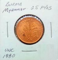 Burma (Myanmar) 1980 - 25 Pyas - Myanmar