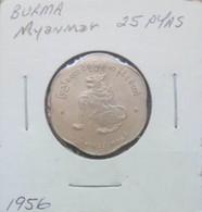 Burma (Myanmar) 1956 - 25 Pyas - Myanmar