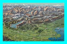 A944 / 613  Il Trentino E Lago Di Garda ( Type Carte Geographique ) - Other Cities