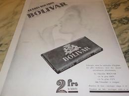 ANCIENNE PUBLICITE CHOCOLAT BOLIVAR DE GUERIN BOUTRON  1929 - Other