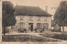 Vinets  10  La Poste Et Le Café De La Place Tres Animées En Terrasse - Otros Municipios