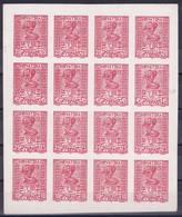 "Yugoslavia, Croatia SHS, ""November 29"", ""Proof"" Sheet From Valić Plate, Red On Card Paper, Certificate Veličković - Nuovi"